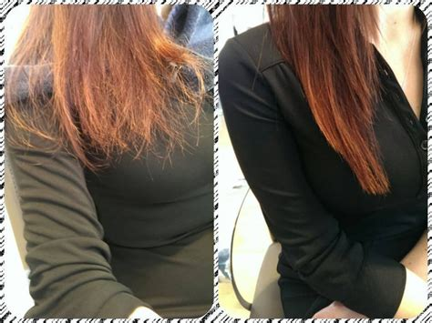 after ends before and after results with our split ends repair