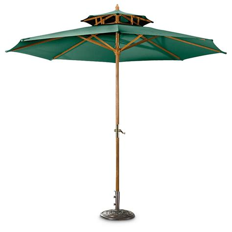 castlecreek 10 two tier market patio umbrella 234562