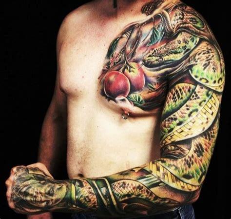 realistic bible snake tattoo sleeve best tattoo ideas