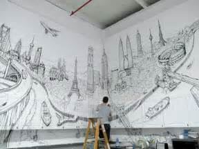 Drawing Interiors artistic and very creative kitchen wall d 233 cor