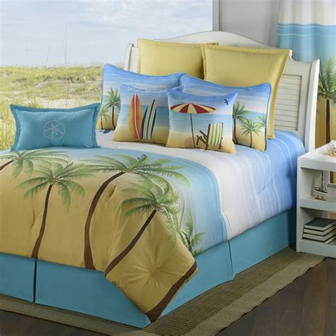 coastal comforters bedding sets palm coast bedding collections coastal surfing tropical