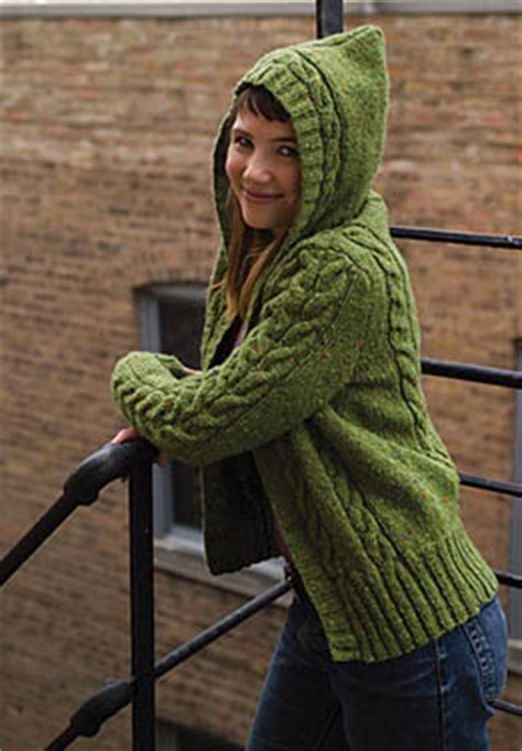 knitted hoodie pattern womens patterns