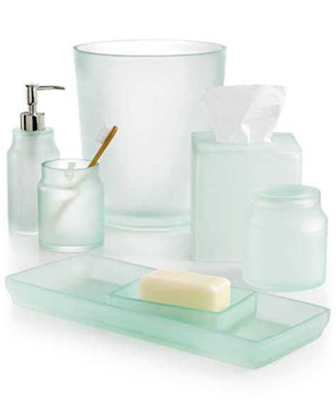 frosted glass bathroom accessories martha stewart collection sea glass bath accessories
