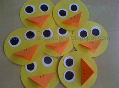 paper duck craft my craft ideas mini paper duck