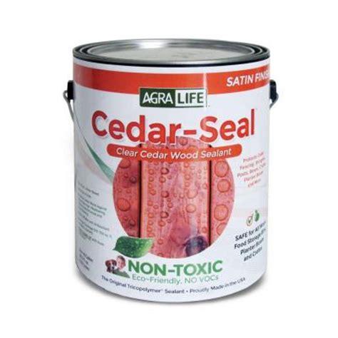 home depot paint voc free tricopolymer voc free non toxic 5 gal clear satin cedar