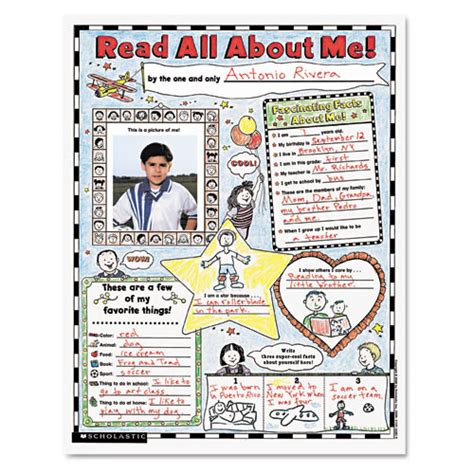 scholastic instant personal poster sets read all about me