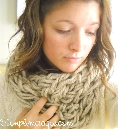arm knitting scarf arm knitting tutorial how to simplymaggie