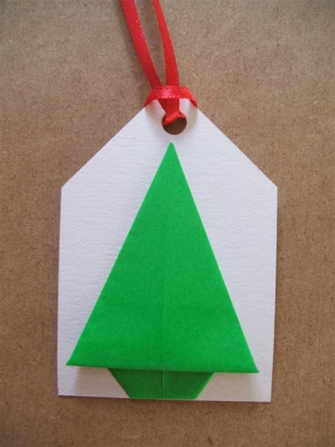 origami gift tag simple origami trees the craft fantastic