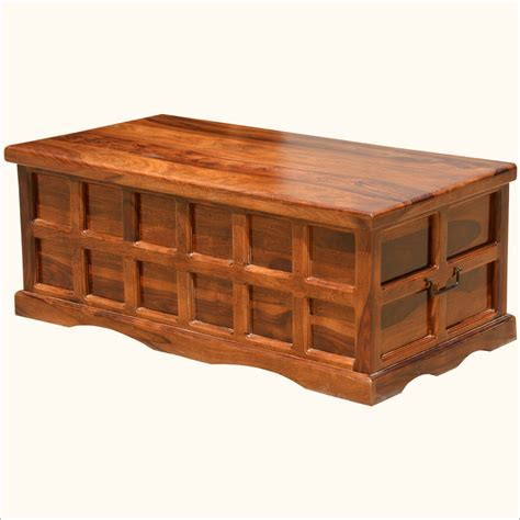 coffee chest table wooden chest coffee table solid wood handmade traditional