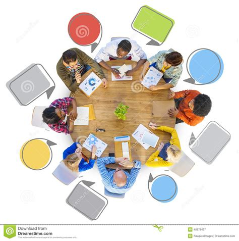 around the table diverse of around table stock illustration