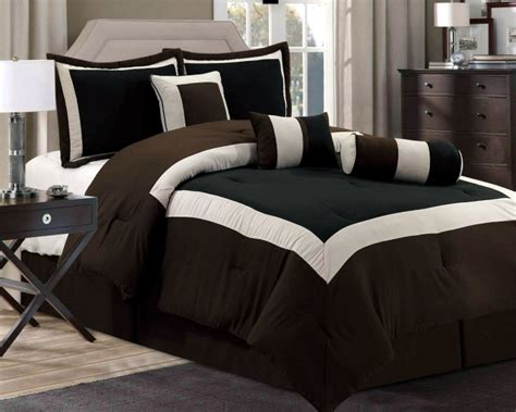 black and brown comforter sets new chocolate brown black bedding hton comforter set