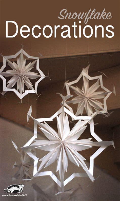 krokotak paper snowflake decorations