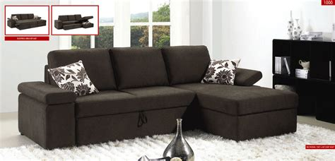 sectional sofas with sleeper bed sectional sofa sleeper with storage brown 1000 by esf