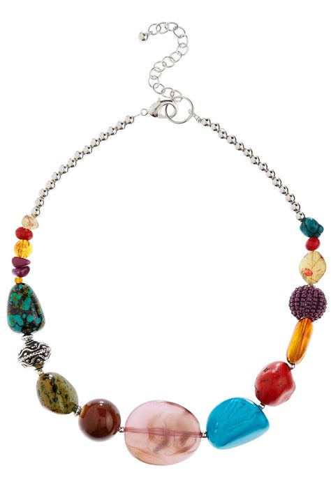 chunky bead necklaces colorful chunky bead necklace necklaces cato fashions