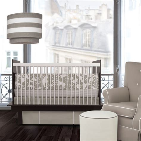 modern crib bedding oilo modern berries taupe crib bedding set free shipping