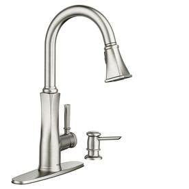 moen kitchen sinks and faucets shop kitchen faucets at lowes