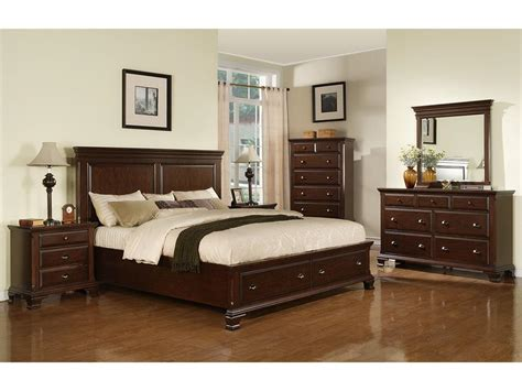 bed bedroom sets elements international bedroom canton cherry storage bed