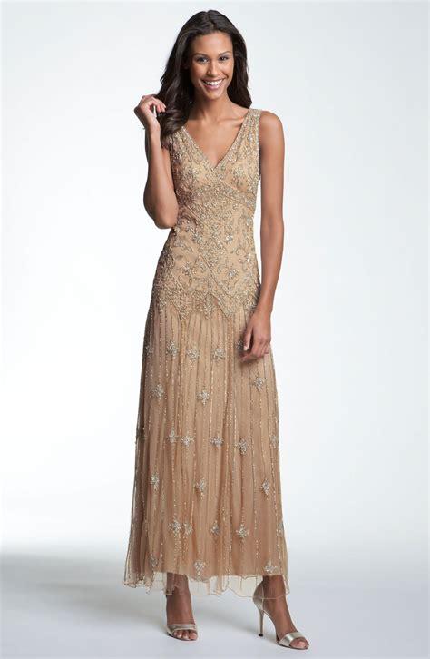 pisarro nights beaded dress pisarro nights vneck beaded sequin gown in beige
