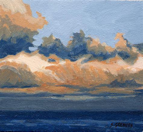 acrylic painting a sky whitby sky cu seascape marine sky painting steve