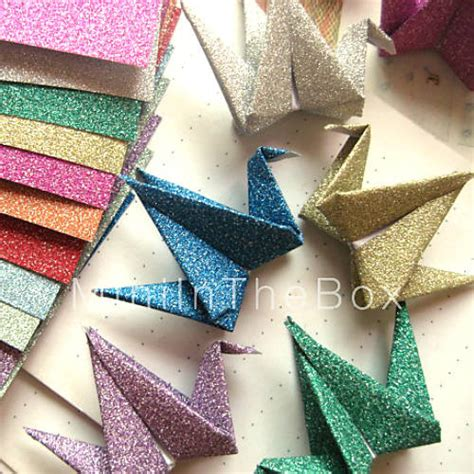 origami materials flash powder papercranes origami materials 12 pieces bag