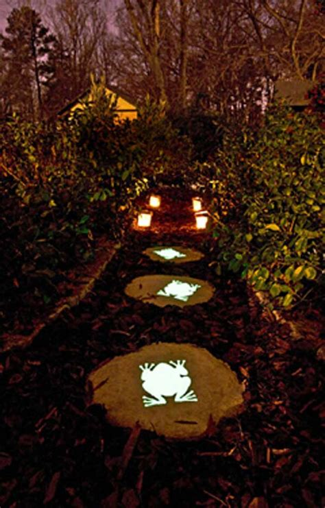 glow in the paint stepping stones 21 diy stepping stones to brighten any garden walk
