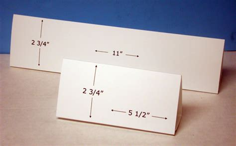 how to make a tent card table tent cards horizontal format for inkjet or laser