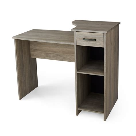 mainstays l shaped desk with hutch finishes 1 mainstays student desk finishes color alder oak