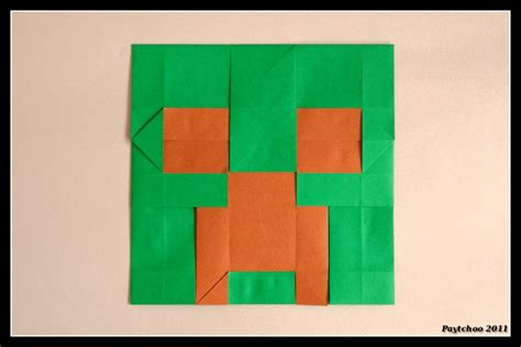 how to make a origami creeper origami creeper s by paytchoo on deviantart