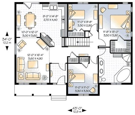 1 floor 3 bedroom house plans 1339 square 3 bedrooms 1 batrooms on 1 levels