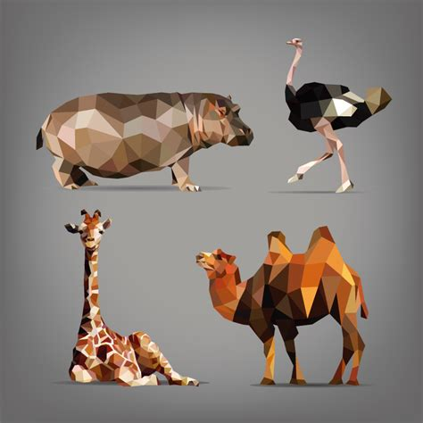 3d origami animals 3d origami animals vector free vector graphic