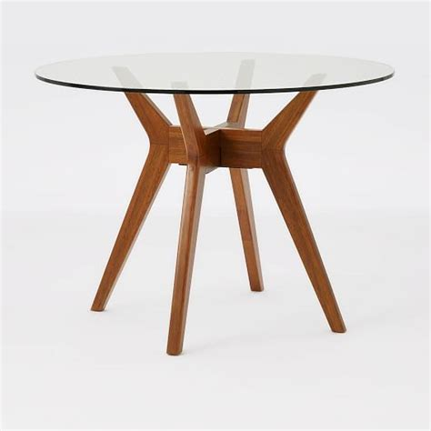 glass table glass dining table west elm