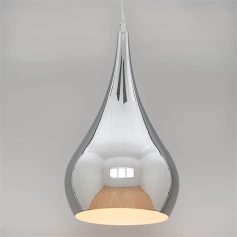 Fitting Ceiling Light by Modern Designer Teardrop Ceiling Pendant Light Chrome 24cm