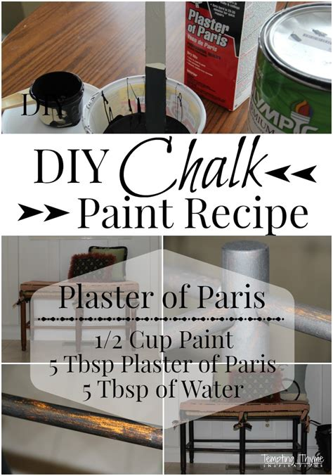 diy chalk paint plaster of recipe chalk paint recipe tempting thyme