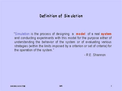 the definition of definition of simulation