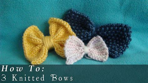 how to knit a how to knit bows easy