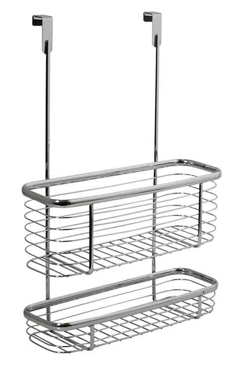 cabinet door storage trays axis chrome cabinet storage basket and tray in