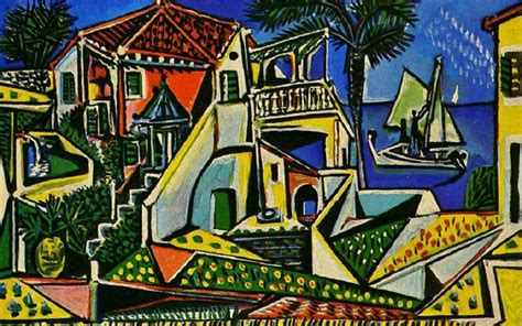 pablo picasso nature paintings mediterranean landscape 1953 by pablo picasso