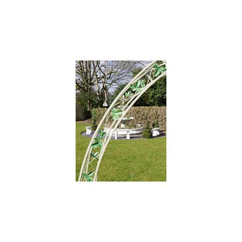 White Garden Arch Uk Metal Garden Arch Swanky Interiors