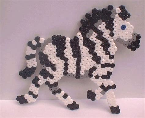 perler bead wolf perler bead zebra by snowy wolf on deviantart