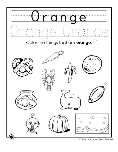 color orange worksheet woo jr kids activities