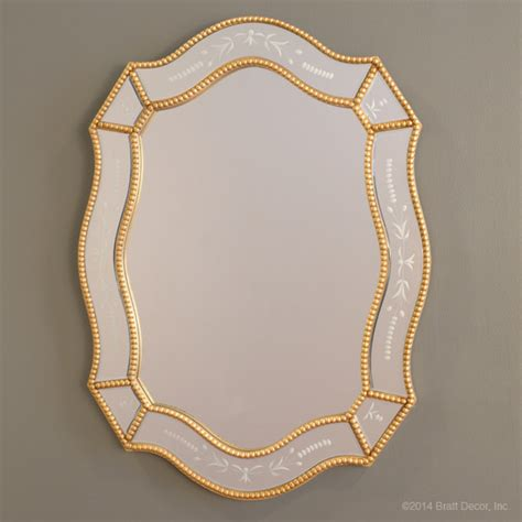 gold beaded mirror ornate beaded mirror