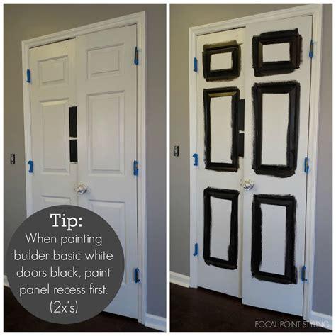 black door interior focal point styling painting interior doors black
