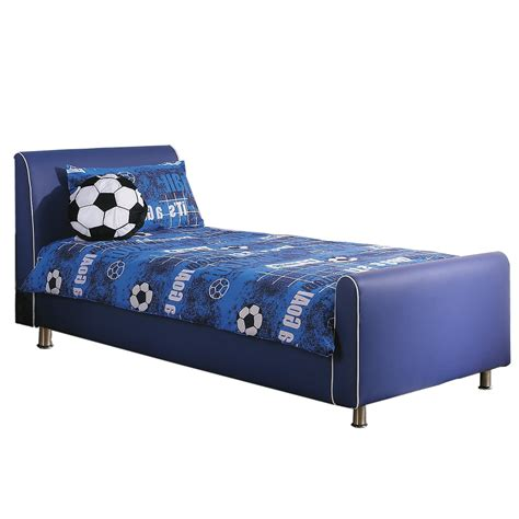 bed blue azure boys leather bed frame blue up to 60 rrp next