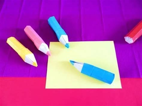 how to make a origami pencil origami pencil shaped pencil box