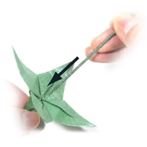 origami with stem how to make an origami wire stem page 3