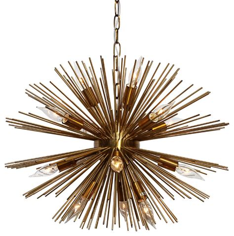 mid century modern chandeliers sunburst 12 light brass chandelier midcentury