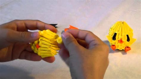 simple 3d origami 3d origami baby chicken