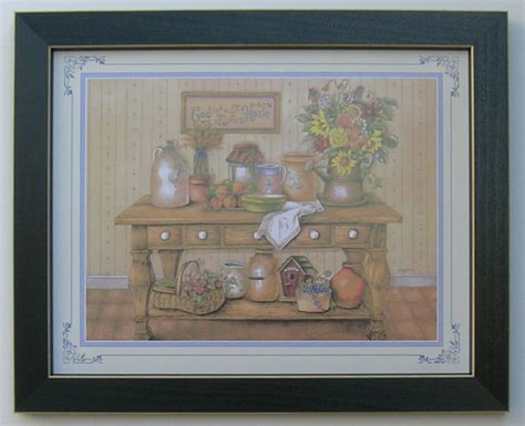 home interiors ebay country kitchen picture framed country picture print interior home decor ebay