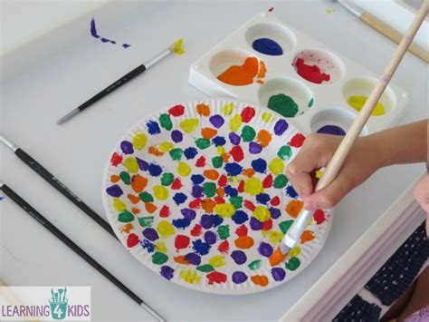 craft ideas paper plates paper plate umbrella craft learning 4