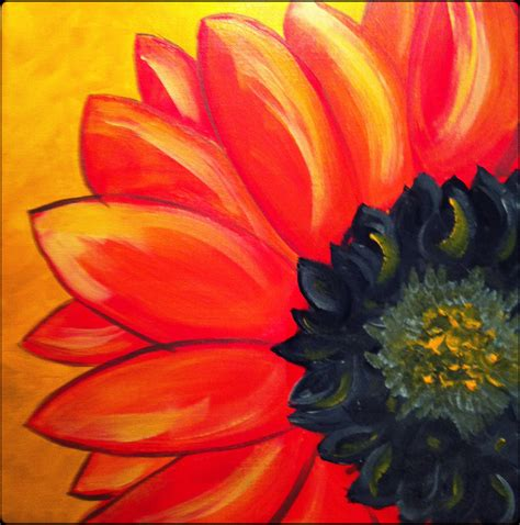 acrylic painting easy flower original acrylic painting on 12x12 canvas by erindufraneart